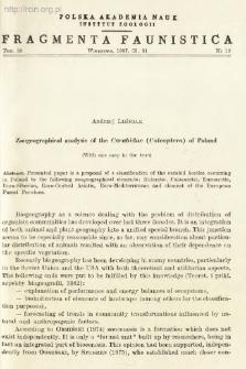 Zoogeographical analysis of the Carabidae (Coleoptera) of Poland