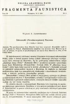 Zaleszczotki (Pseudoscorpiones) Mazowsza