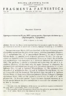 Synergus evanescens Mayr, 1872 a group species; Synergus dacianus sp. n. (Hymenoptera, Cynipidae)