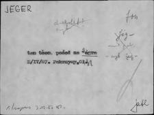 Kartoteka Słownika Gwar Ostródzkiego, Warmii i Mazur; Jeger - Już1