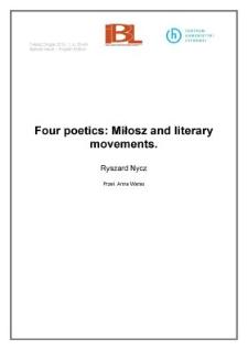 Four poetics: Miłosz and literary movements