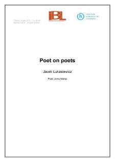 Poet on poets