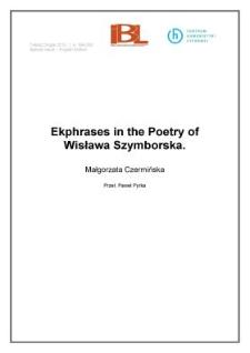 Ekphrases in the Poetry of Wisława Szymborska