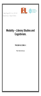 Modality – Literary Studies and Cognitivism
