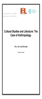Cultural Studies and Literature: The Case of Anthropology