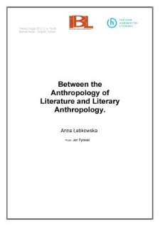 Between the Anthropology of Literature and Literary Anthropology