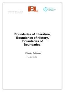 Boundaries of Literature, Boundaries of History ,Boundaries of Boundaries