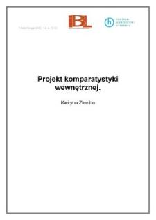Projekt komparatystyki wewnętrznej