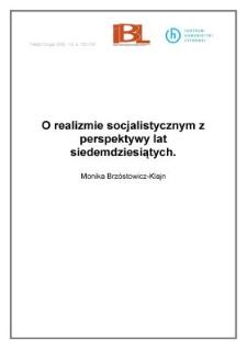 O realizmie socjalistycznym z perspektywy lat siedemdziesiątych