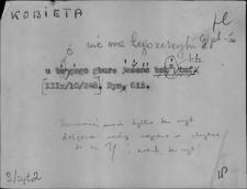 Kartoteka Słownika Gwar Ostródzkiego, Warmii i Mazur; Kobieta - Komin