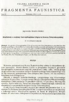 Muchówki z rodziny Sarcophagidae (Diptera) Krainy Świętokrzyskiej