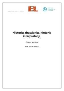 Historia zbawienia, historia interpretacji