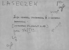 Kartoteka Słownika Gwar Ostródzkiego, Warmii i Mazur, Laseczek - Lepszy