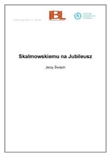 Skalmowskiemu na Jubileusz