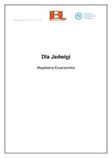 Dla Jadwigi
