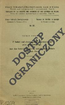 Z badań nad chrząszczami nekrotycznemi pow. dziśnieńskiego = Aus den Untersuchungen an nekrotischen Käfern im Bezirk Disna
