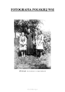 [A priest and three girls in folk costumes] [An iconographic document]