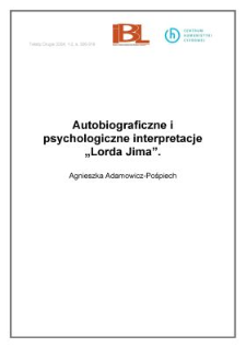 "Autobiograficzne i psychologiczne interpretacje ""Lorda Jima"""