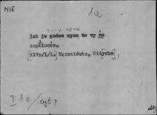 Kartoteka Słownika Gwar Ostródzkiego, Warmii i Mazur, Nie