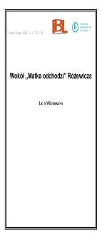 """Wokół """"Matka odchodzi"""" Różewicza"""