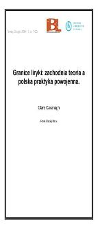 Granice liryki: zachodnia teoria a polska praktyka powojenna