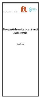 Nowojorskie tajemnice życia i śmierci Jana Lechonia
