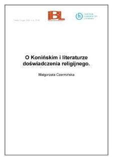 O Konińskim i literaturze doświadczenia religijnego