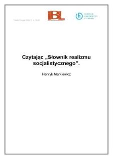 """Czytając """" Słownik realizmu socjalistycznego"""""""