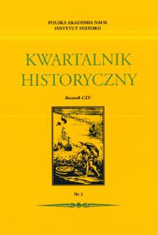 Kwartalnik Historyczny R. 115 nr 2 (2008), Recenzje