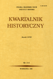 Kwartalnik Historyczny R. 97 nr 3-4 (1990), Title pages, Contents