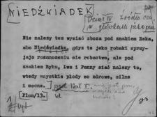 Kartoteka Słownika Gwar Ostródzkiego, Warmii i Mazur, Niedźwiadek - Niźnik