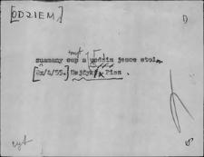Kartoteka Słownika Gwar Ostródzkiego, Warmii i Mazur, Odziem - Olejek