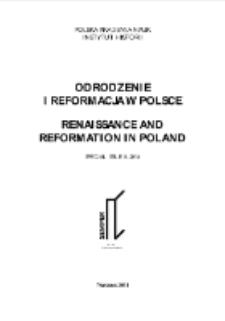 Odrodzenie i Reformacja w Polsce T. 58 (2014), Special Issue, Title pages, Contents