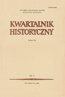 Kwartalnik Historyczny R. 90 nr 2 (1983),Title pages, Contents