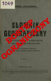 Słownik geograficzny : pochodzenie i znaczenie nazw geograficznych