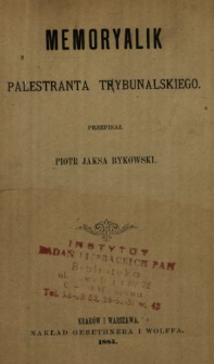 Memoryalik palestranta trybunalskiego
