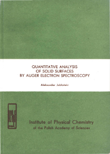 Quantitative analysis of solid surfaces by auger electron spectroscopy