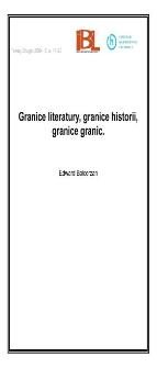 Granice literatury, granice historii, granice granic