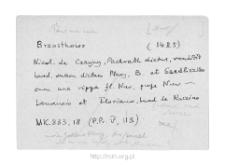 Brzostowo. Kartoteka powiatu nurskiego w średniowieczu. Kartoteka Słownika historyczno-geograficznego Mazowsza w średniowieczu