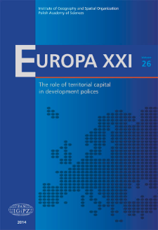 Historical-geographical determinants of the west-east territorial disparities in the Central European countries