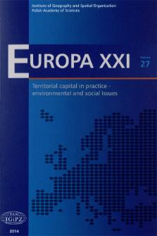 Europa XXI 27 (2014), Contents