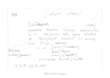 Kalinowo. Kartoteka powiatu nurskiego w średniowieczu. Kartoteka Słownika historyczno-geograficznego Mazowsza w średniowieczu