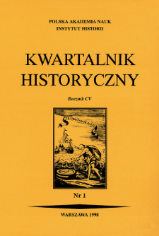 Kwartalnik Historyczny R. 105 nr 1 (1998), Przeglądy - Polemik - Propozycje : Odpowiedź na recenzję Krzysztofa Ożoga
