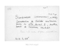 Nienałty-Szymany. Kartoteka powiatu nurskiego w średniowieczu. Kartoteka Słownika historyczno-geograficznego Mazowsza w średniowieczu