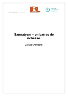 Sarmatyzm - embarras de richesse