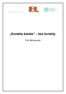 """"""" Korekta świata"""" - bez korekty"""