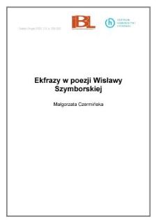 Ekfrazy W Poezji Wisławy Szymborskiej Digital Repository