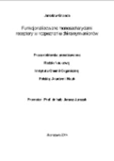 Funkcjonalizowane monosacharydami receptory w rozpoznaniu chiralnym anionów