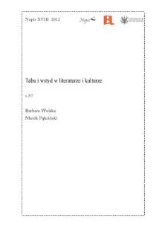 Tabu i wstyd w literaturze i kulturze [Wstęp]
