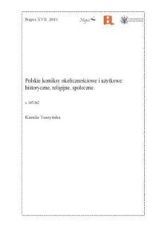 Polskie komiksy okolicznościowe i użytkowe: historyczne, religijne, społeczne